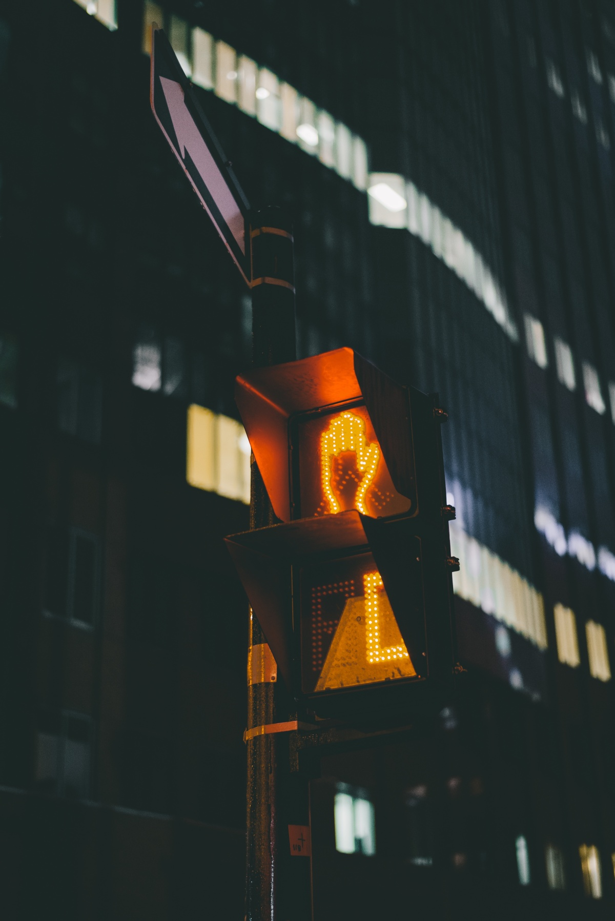 Photo of a stop walk light